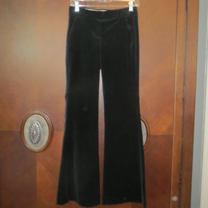 THEORY Black Velvet Career/Holiday Dress Pants